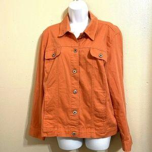 JM Collection Long Sleeve Jacket Size 14 Q26E